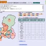 岐阜県各地の花粉飛散の状況