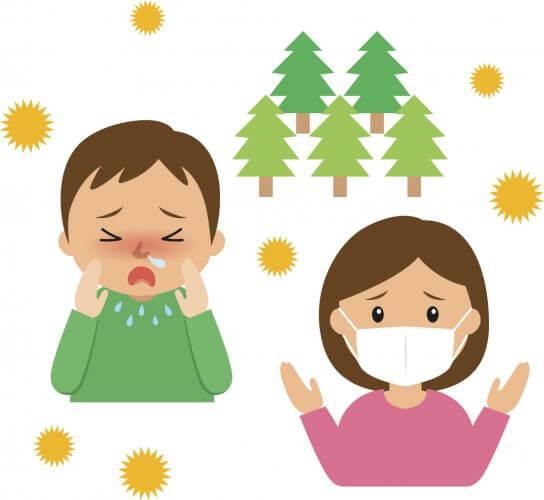 花粉症による鼻づまり・くしゃみ症状