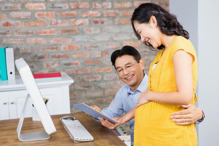 妊婦と配偶者