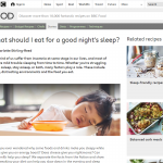 食べる時間が不規則であると睡眠に影響します
